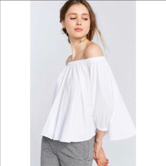 0c8e7045eaf Urban Outfitters Tops | Truly Madly Deeply Bardot Off The Shoulder ...